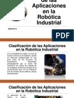 Clasificación de las Aplicaciones en la Robótica Industrial
