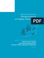 2013 EU High-level Group on Modernisation of Higher Education