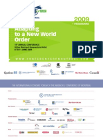 Adapting to a New World Order - THE INTERNATIONAL ECONOMIC FORUM OF THE AMERICAS