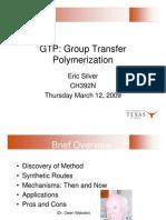 Group Transfer Polymerization
