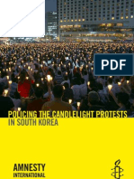 POLICING THE CANDLELIGHT PROTESTS IN SOUTH KOREA(Korean