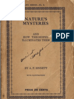 Nature's Mysteries and How Theosophy Illuminates Them by AP Sinnett (1918)