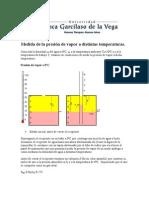Medida de la presión de vapor a distintas temperaturas