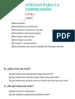 ESTRATEGIAS PARA LA COMPRENSIÓN (Congreso)