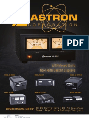 Astron SS-18XTL DC Power Supply for Motorola Astro XTL5000