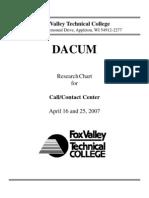 Call Center DACUM April 2007