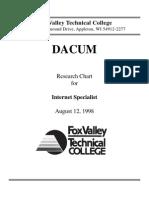 Internet Specialist DACUM Chart August 98