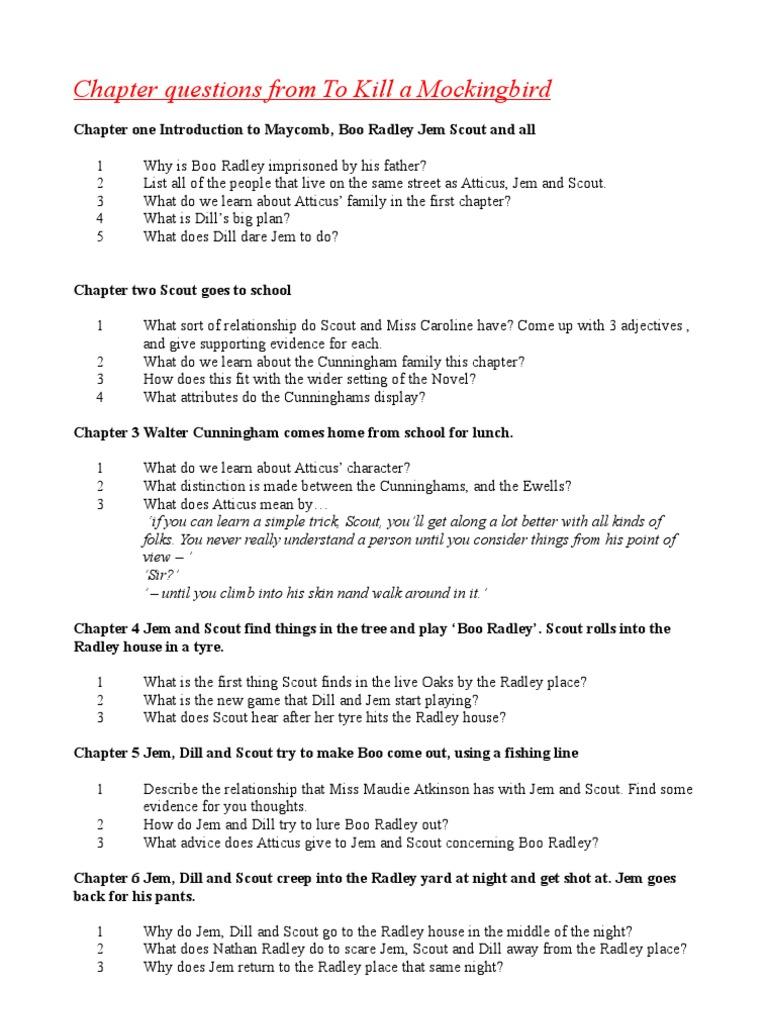 to kill a mockingbird chapter 5 and 6 summary