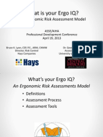 Ergo IQ Ergonomic Risk Assessment Model