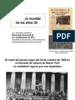 LA CRISIS MUNDIAL DE LOS AÑOS 30