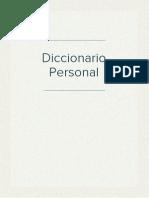 Diccionario Personal