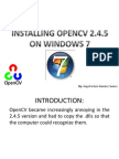 opencv245 - install guide