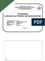 PROGRAMA DE LATONERÍA Y PINTURA DE AUTOMÓVILES (REVISADO EN ABRIL 2013)