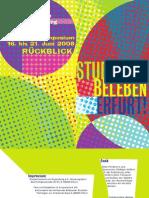"Katalog ""Studenten beleben Erfurt"" 2008"