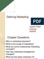 Ch 01 Defining Marketing