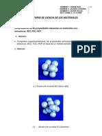 Comprobacion de Materiales BCC, HCC, FCC