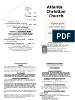 August 18 2013 Church Bulletin