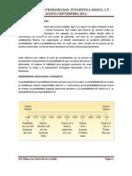 Principios de Probabilidad. Estadistica Basica. c.p. Agosto-septiembre 2012