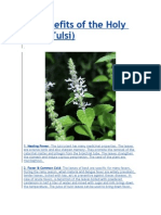 Benefits of Tulsi (Basil)
