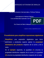 Cuarta Sesion Matematicas Aplicadas a PP