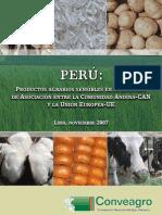 Subvenciones - Productos Agrarios Sensibles CAN-UE