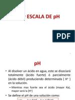 pH y ESCALA DE pH