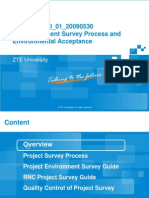 RNC Equipment Survey Process and Environmental Acceptance