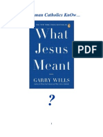Do Roman Catholics KnOw about What Jesus Meant?