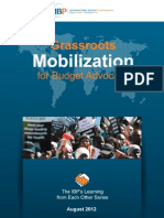 Grassroots Mobilization for Budget Advocacy