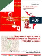 Elementos de Aporte Para La Conceptualizacion de Empresas de Propiedad Comunal Nelson Sanchez