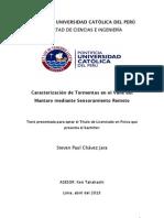 """""""Caracterización de tormentas en el valle del Mantaro mediante el sensoramiento remoto"""""""