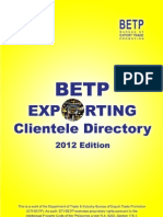 Betp Exporting Clientele Directory 2012