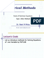 Lec 9 Other Methods