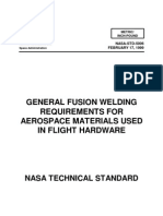 General Fusion Welding Requirements for Aerospace Material Used in Flight Hardware NASA 1999