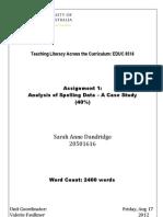 Engligh Assignment spelling data