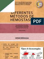 DIFERENTES MÉTODOS DE HEMOSTASIA