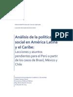 Análisis de la política social en América Latina y el Caribe