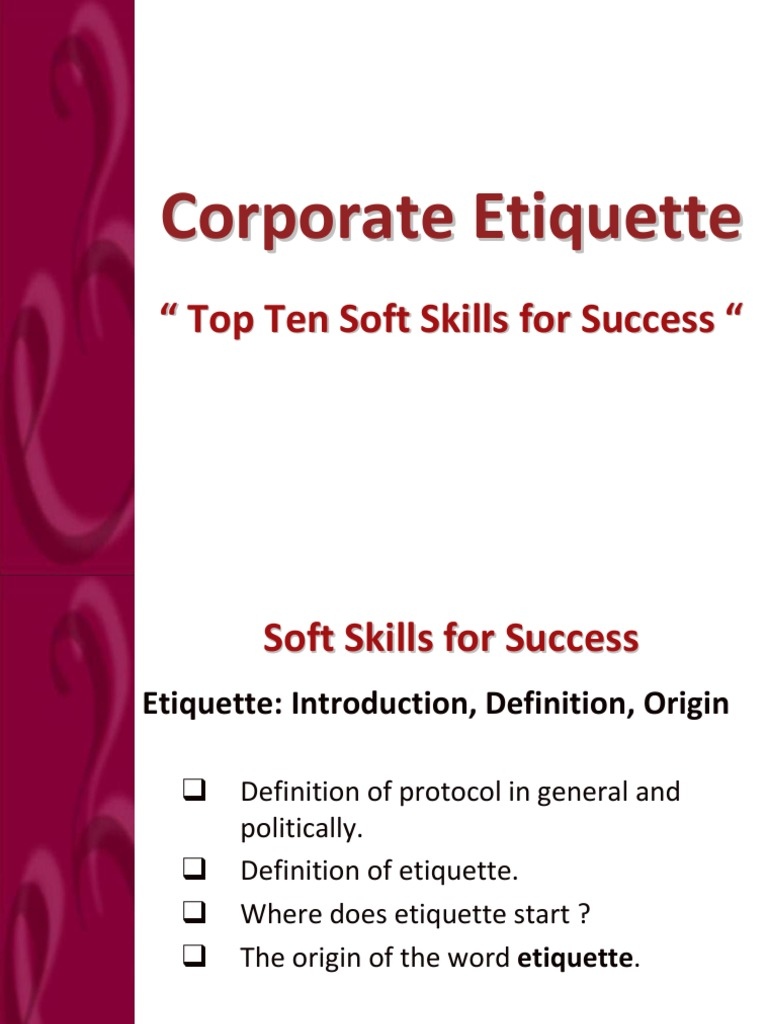 top ten soft skills for success etiquette body language