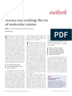Science and Cooking the Era of Molecular Cuisine