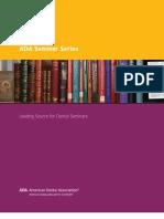 Seminar Series Catalog