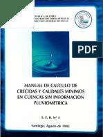 Manual de cálculo de crecidas y caudales mínimos en cuencas sin información fluviométrica MOP Chile IDF FLU398