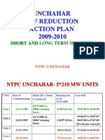 Unchahar BTF Reduction Plan 09-10