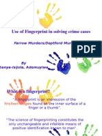 Use of Fingerprint in Solving Crime
