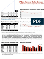 RP Data Market Summary (WE August 25 2013)