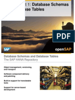 OpenSAP HANA1 Week 02 Database Tasks Loading Modeling