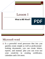 Chapter1 Ms Word