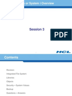 iSeries Overview - III