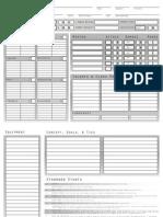 Dragon Age Character Sheet (Editable)