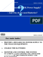 Abstract on DC Power Supply and Batteries