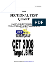 Quant Sectional Test 8